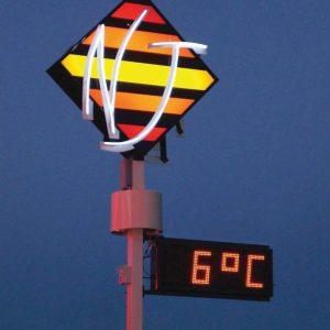 afficheur heure date temperature